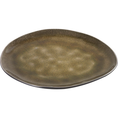 Image of Serax Pure Plat Bord Ovaal 20 x 17 cm groen