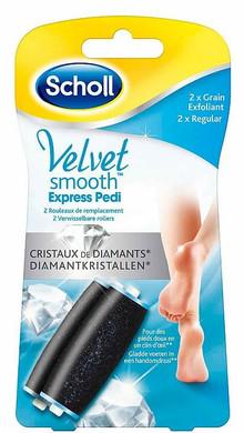 Scholl Velvet Smooth Refill Regular 2x6