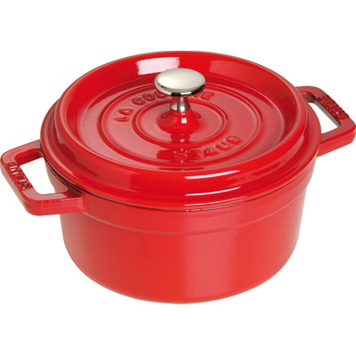 Staub Ronde Cocotte 22 cm - kersenrood