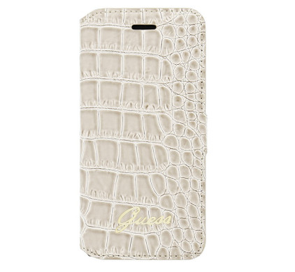 Guess Folio Case Crocodile Apple iPhone 6/6s Beige