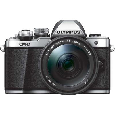 Image of Olympus E-M10 Mark II systeemcamera Zilver + 14-150mm II Zwart