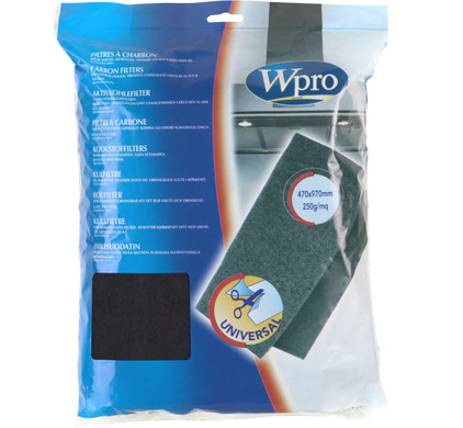 Wpro Koolstoffilter anti-geur 47 x 97 cm