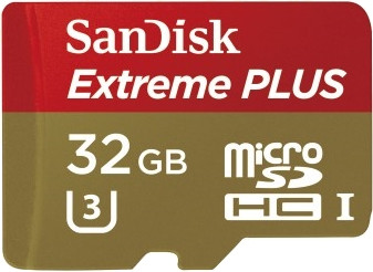 SanDisk MicroSDHC Extreme plus 32GB 95MB/s Class 3