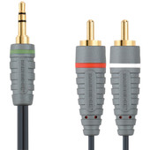 Bandridge 3,5 mm naar RCA Kabel 1 Meter
