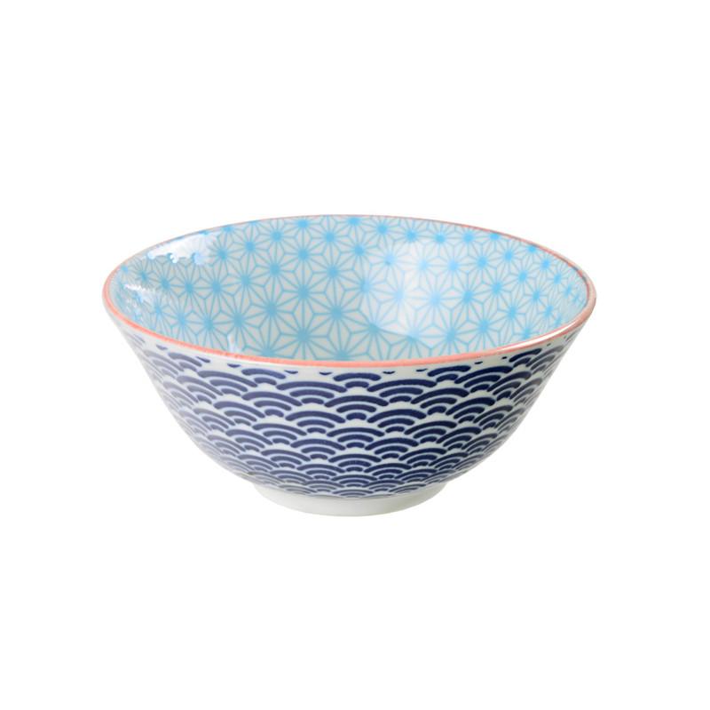 Tokyo Design Studio Star Wave Kom Blauw 15 2 Cm