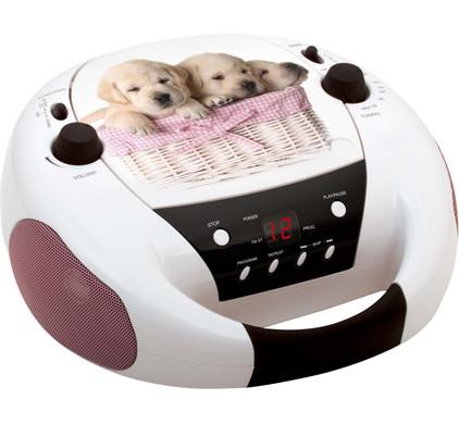 Draagbare radio CD speler honden