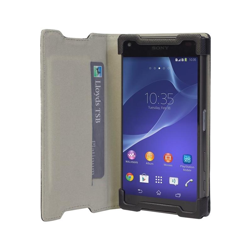 Krusell Malmo Wallet Case Sony Xperia Z5 Compact Zwart