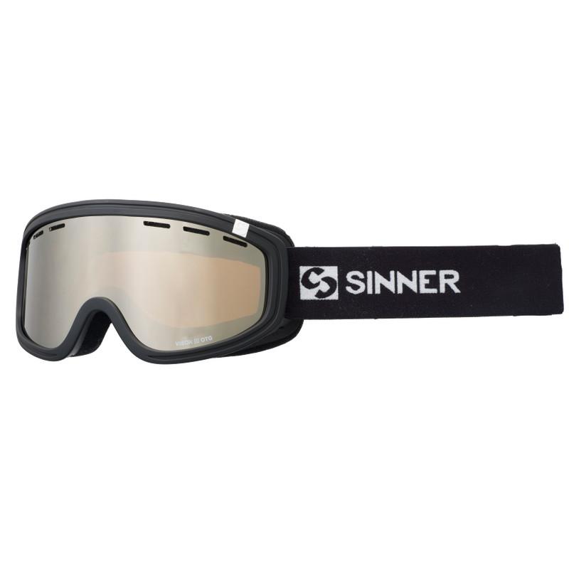Sinner Visor Iii Otg Matte Black / Orange Mirror