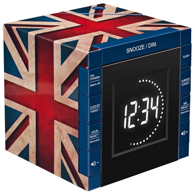 Radio Alarm Clock Projector Union Jack