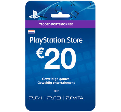 PlayStation Network Voucher Card 20 Euro NL