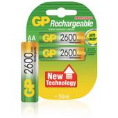 GP AA NiMH 2600 mAh batterijen 2-pack