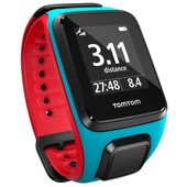 TomTom Runner 2 Cardio + Music Scuba Blue/Red - L