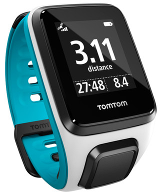 TomTom Runner 2 Cardio + Music White/Scuba Blue - S