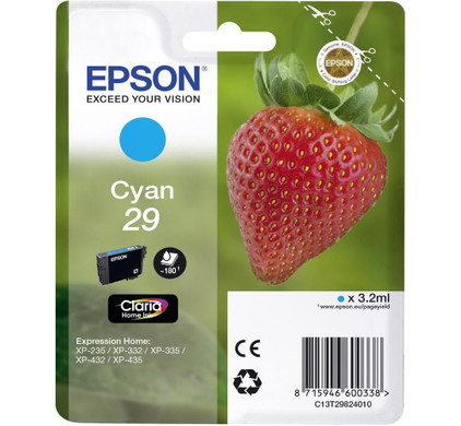 Epson 29 Cartridge Cyaan (C13T29824010)