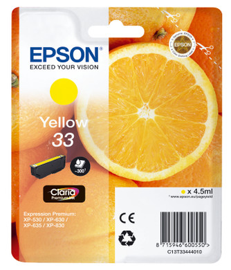 Epson 33 Cartridge Geel (C13T33444010)