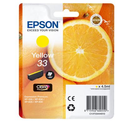 Epson 33 Cartridge Geel (C13T33444010)