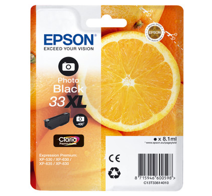 Epson 33 Cartridge Fotozwart XL (C13T33614010)