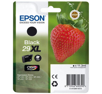 Epson 29 Cartridge Zwart XL (C13T29914010)