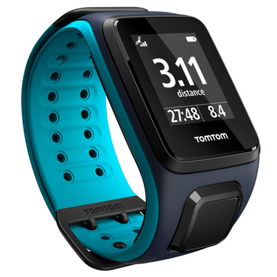 TomTom Runner 2 Music GPS Watch - sky Captain blue / scuba blue - large
