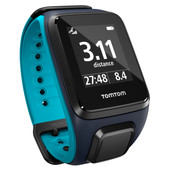 TomTom Runner 2 Cardio + Music Sky Captain/Scuba Blue - L