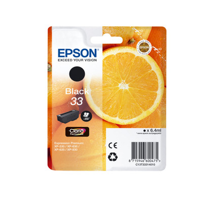 Epson 33 Cartridge Zwart (C13T33314010)