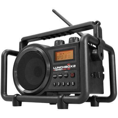 Image of FM Bouwradio PerfectPro Lunchbox 2 AUX, Middengolf, FM Spatwaterbestendig, Stofdicht, Stofvast Zwart