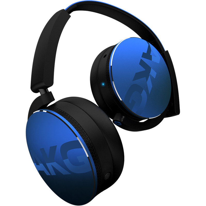 AKG Harman Bluetooth HiFi Koptelefoon, On Ear, Vouwbaar, Headset, Blauw