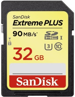 Sandisk SDHC Extreme Plus 32GB 90MB/s Class 10
