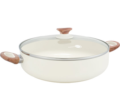 Greenpan WoodBe Hapjespan 28 cm Crème