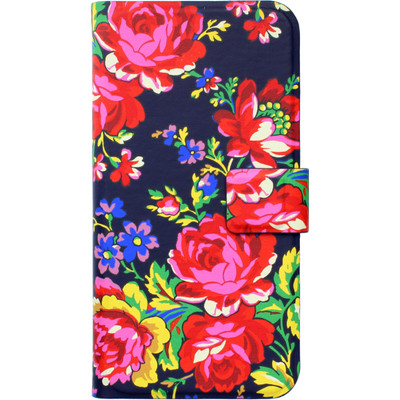 Image of Accessorize Navy Rose Book Case Apple iPhone 5/5S/SE
