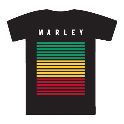 Image of House of Marley T-shirt Rasta Large Zwart