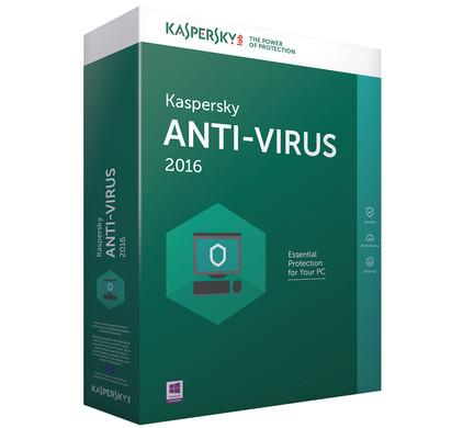 Kaspersky Anti-Virus 2016 1 Jaar 3 gebruikers