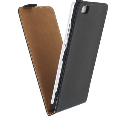 Mobilize Classic Flip Case Huawei P8 Lite Zwart
