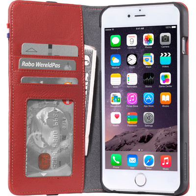 Decoded Leather Wallet Apple iPhone 6 Plus/6s Plus Rood