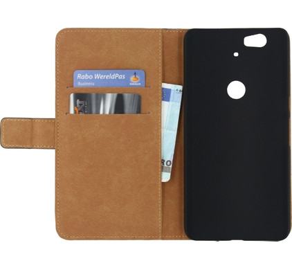 Mobilize Classic Wallet Book Case Huawei Nexus 6P Zwart