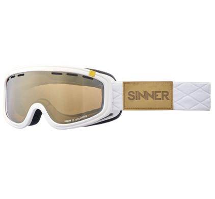 Sinner Visor III OTG White + Gold Mirror Lens