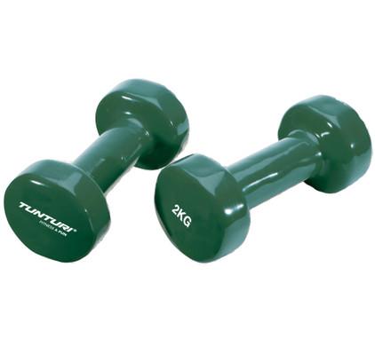 Tunturi Vinyl Dumbbells 2x 2 kg Green