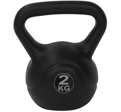 Tunturi Kettlebell - PVC - 2 kg - Zwart