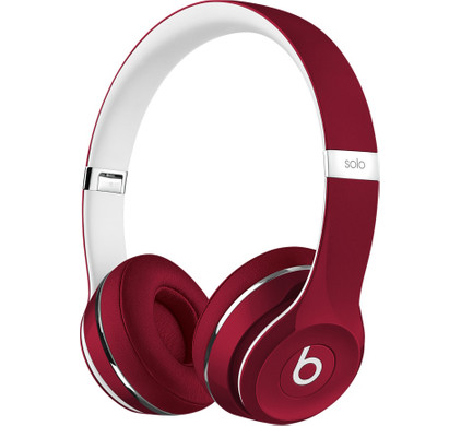 Beats Solo2 On-Ear Headphones Luxe Edition Rood