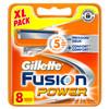 8x Gillette Fusion Power Scheermesjes