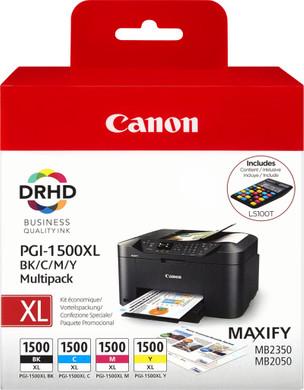 Canon PGI-1500XL 4-Kleuren Pack (9182B004) + Rekenmachine