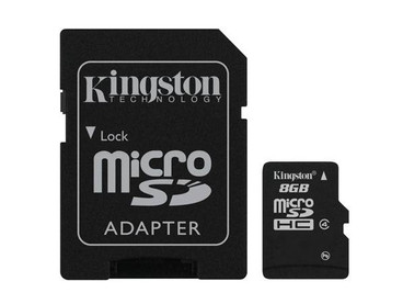 Kingston Micro SDHC 8 GB met adapter