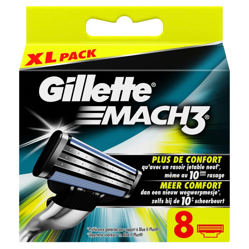 8x Gillette Mach3 Scheermesjes