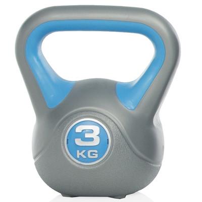 Gymstick Kettlebell - Met DVD - 3 kg - Blauw