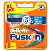 8x Gillette Fusion Scheermesjes