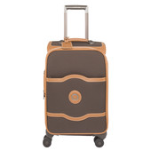 Delsey Châtelet Soft+ 4 Wheel Cabin Trolley Case 55 cm Chocolate