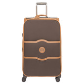 Delsey Châtelet Soft+ 4 Wheel Expandable Trolley Case 75 cm Chocolate