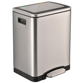 Easybin Duo Recycle 15 + 15 Liter Zilver