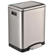 Easybin Duo Recycle 15 + 15 Liter Zilver