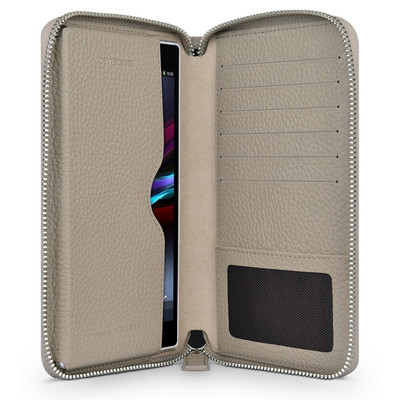 Image of Beyzacases Universele Wallet Case L Bruin